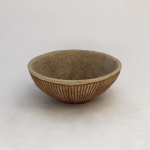 Bowl - Striped - with rim L