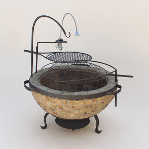 Boma Fire-Pit 900 Mosaic with Accessories
