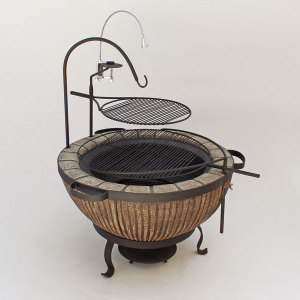 Boma Fire-Pit 900 Stripe with Accessories