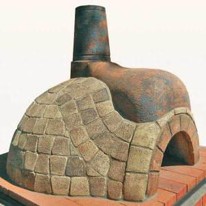clad pizza oven brown large