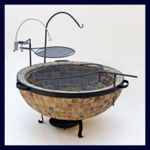 Boma Fire-Pit 1100 Mosaic with Accessories